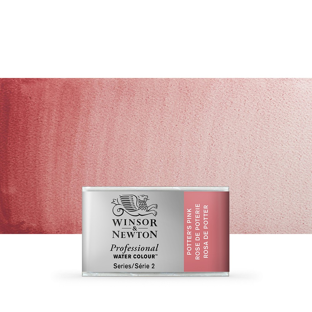 Winsor & Newton : Professional Watercolour Paint : Full Pan : Potters Pink