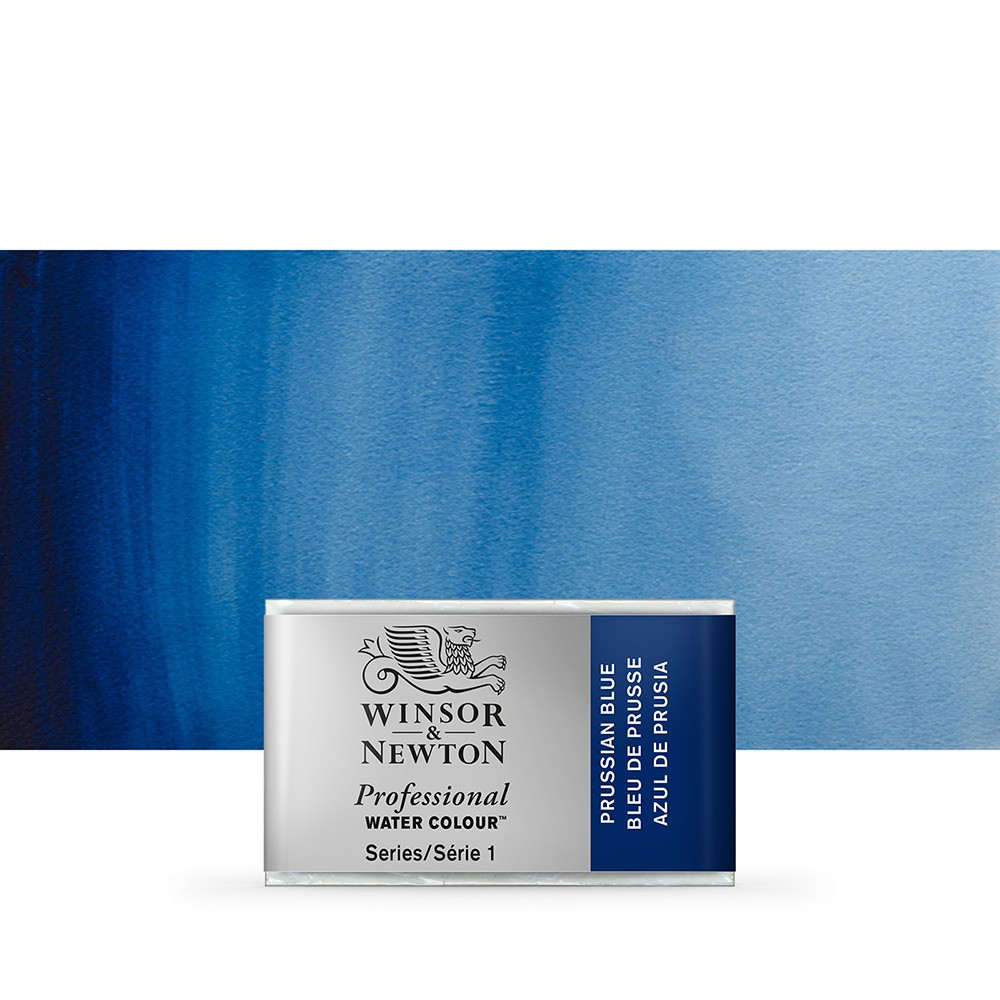 Winsor & Newton : Professional Watercolour Paint : Full Pan : Prussian Blue