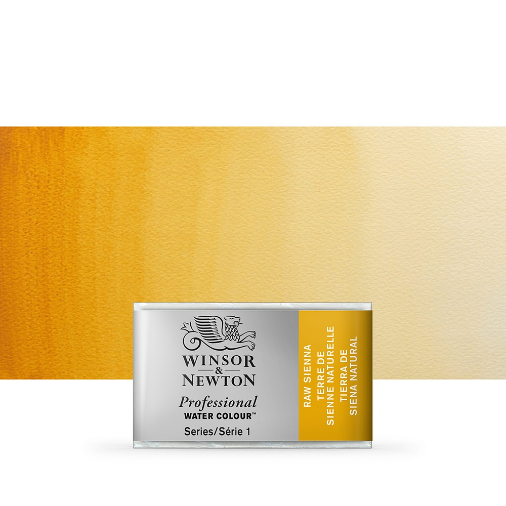 Winsor & Newton : Professional Watercolour Paint : Full Pan : Raw Sienna