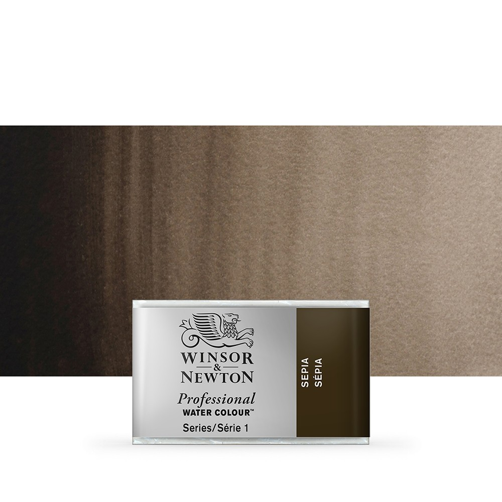 Winsor & Newton : Professional Watercolour Paint : Full Pan : Sepia