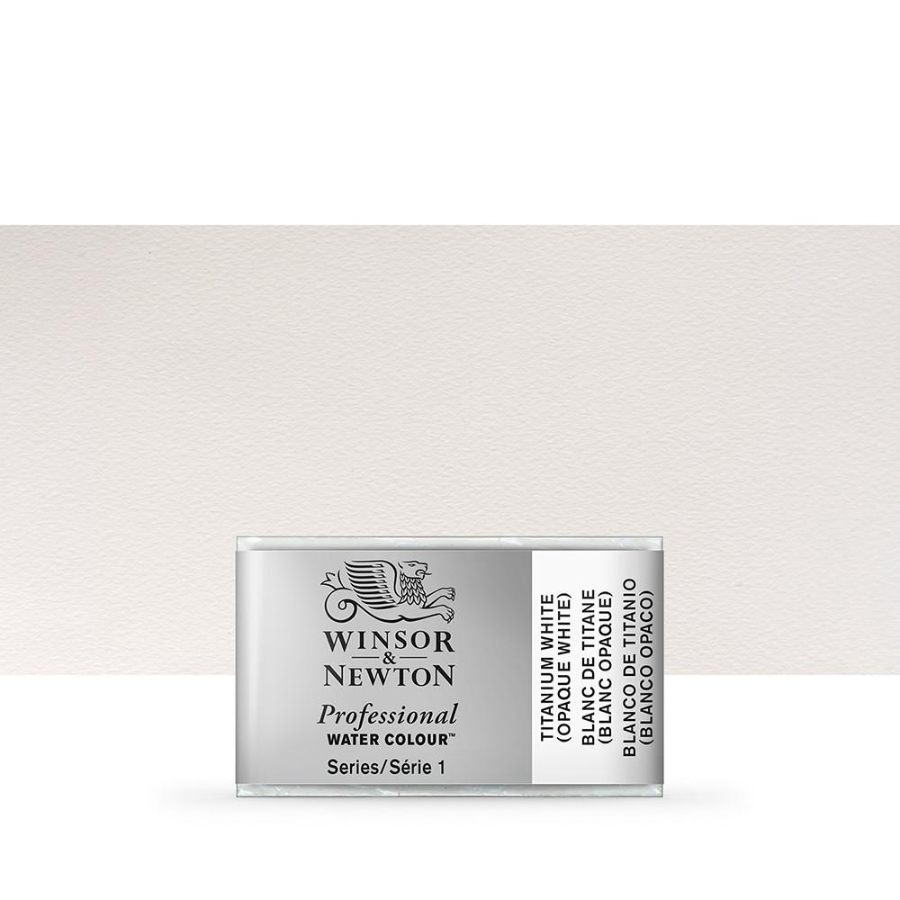 Winsor & Newton : Professional Watercolour Paint : Full Pan : Titanium White