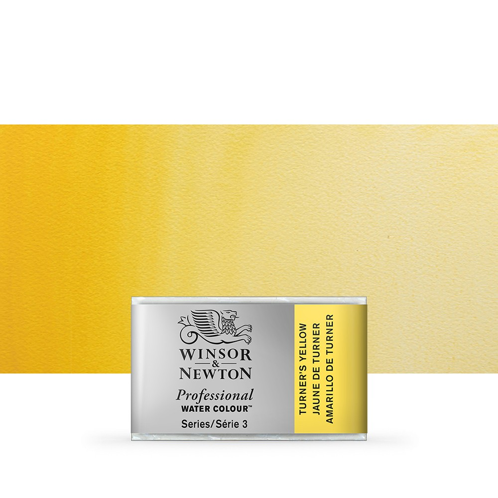 Winsor & Newton : Professional Watercolour Paint : Full Pan : Turners Yellow