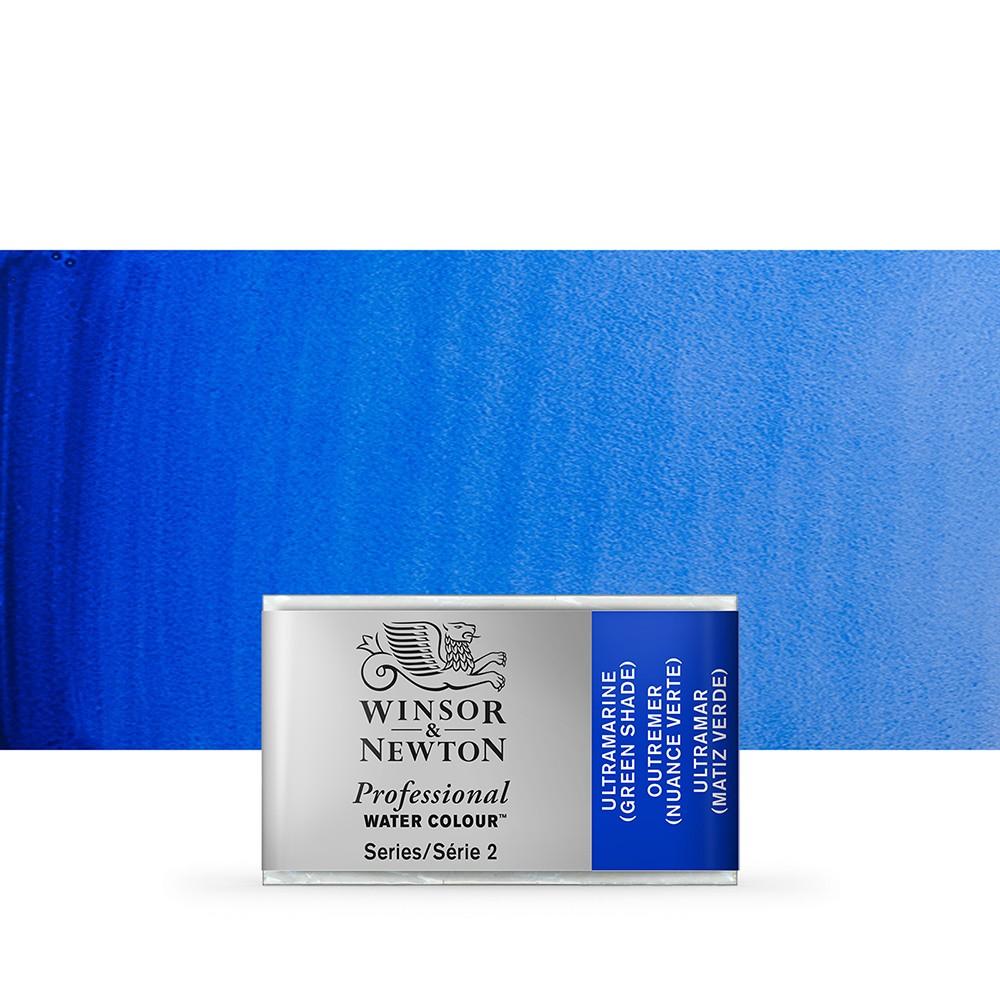 Winsor & Newton : Professional Watercolour Paint : Full Pan : Ultramarine (Green Shade)