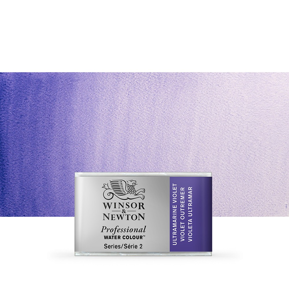 Winsor & Newton : Professional Watercolour Paint : Full Pan : Ultramarine Violet