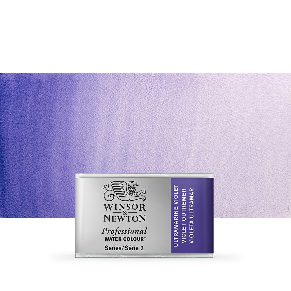 Winsor & Newton : Professional Watercolour Paint : Full Pan : Ultramarine Violet
