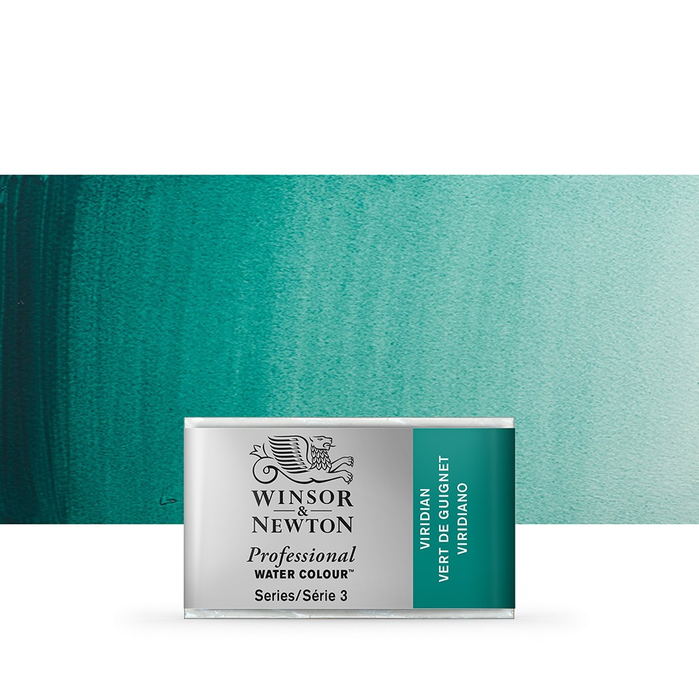 Winsor & Newton : Professional Watercolour Paint : Full Pan : Viridian