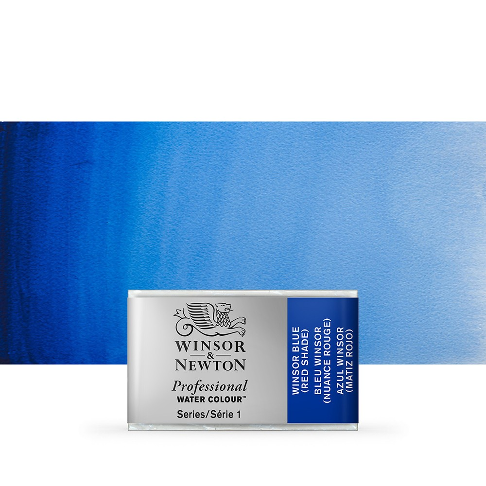 Winsor & Newton : Professional Watercolour Paint : Full Pan : Winsor Blue (Red Shade)