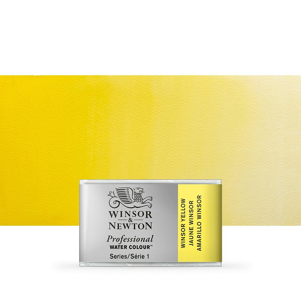 Winsor & Newton : Professional Watercolour Paint : Full Pan : Winsor Yellow