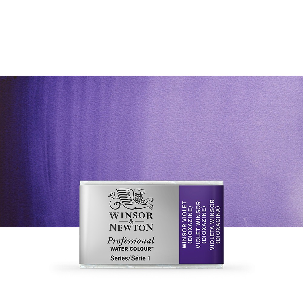 Winsor & Newton : Professional Watercolour Paint : Full Pan : Winsor Violet