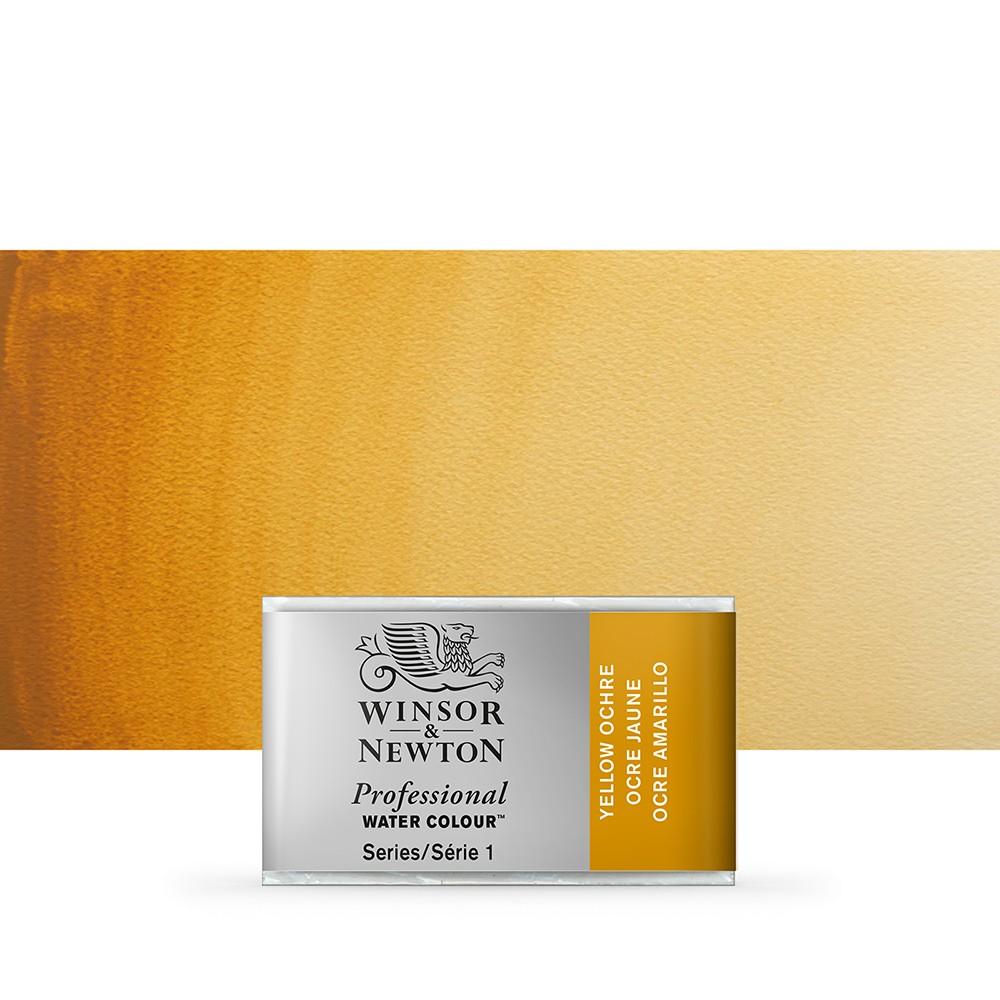 Winsor & Newton : Professional Watercolour Paint : Full Pan : Yellow Ochre