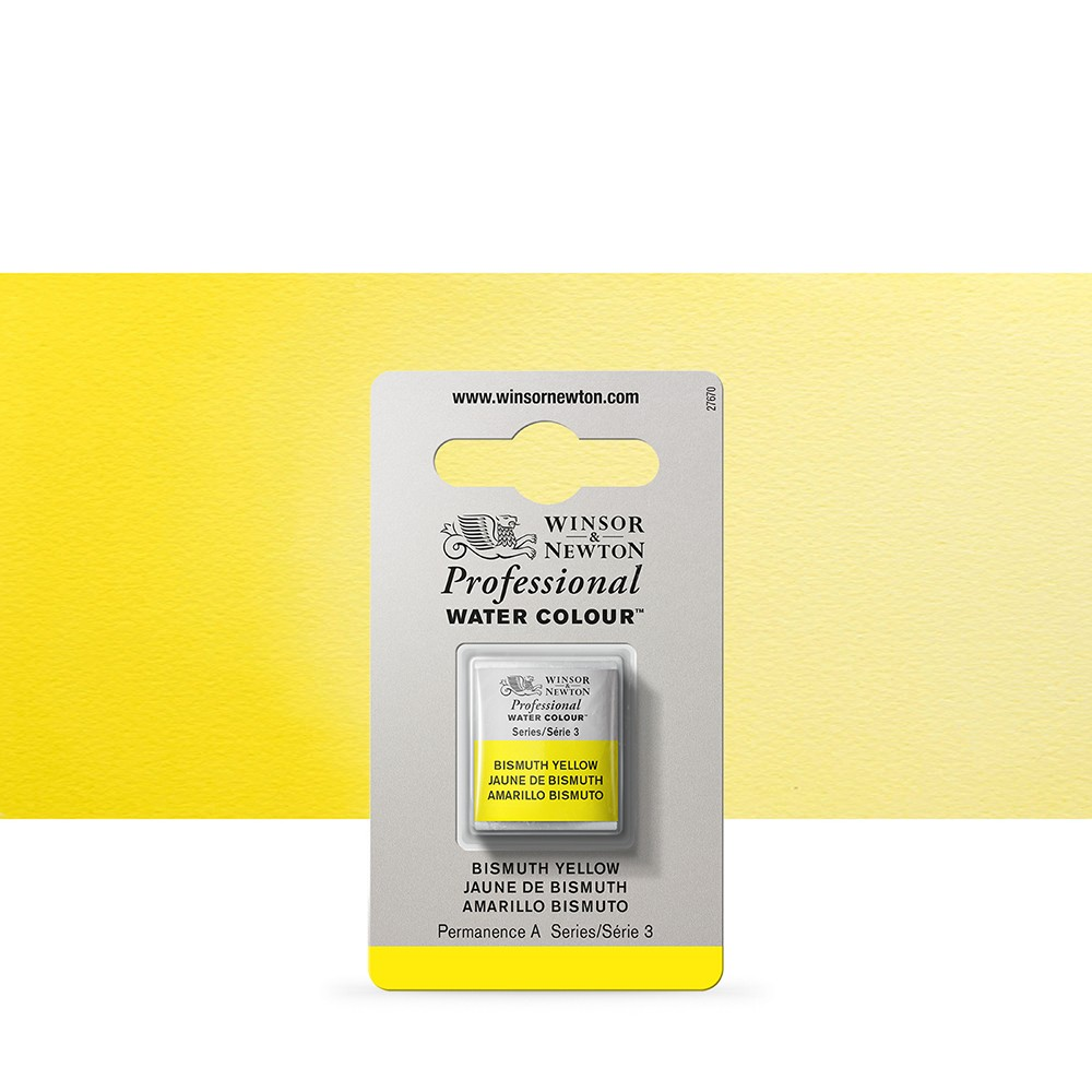 Winsor & Newton : Professional Watercolour Paint : Half Pan : Bismuth Yellow