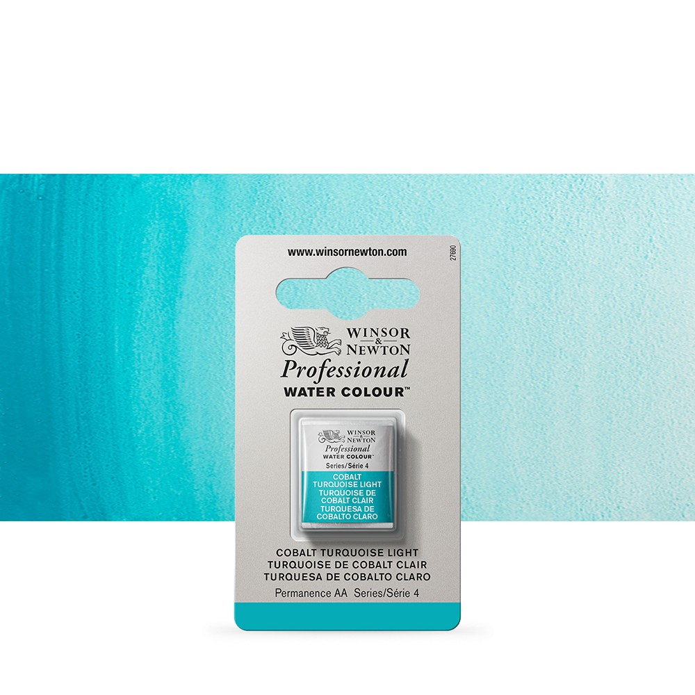 Winsor & Newton : Professional Watercolour Paint : Half Pan : Cobalt Turquoise Light