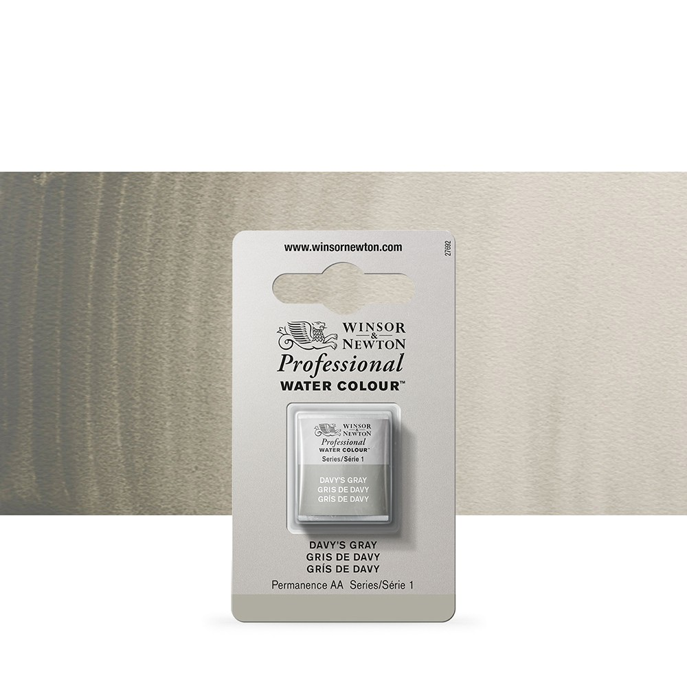 Winsor & Newton : Professional Watercolour Paint : Half Pan : Davys Grey