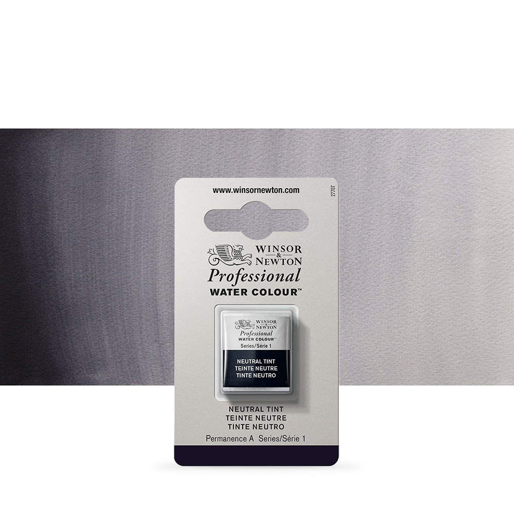 Winsor & Newton : Professional Watercolour Paint : Half Pan : Neutral Tint