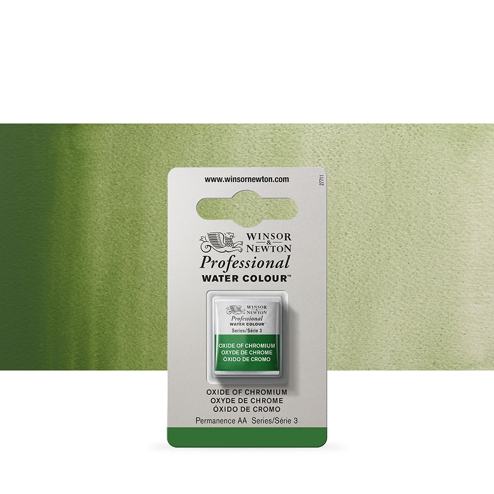 Winsor & Newton : Professional Watercolour Paint : Half Pan : Oxide Of Chromium