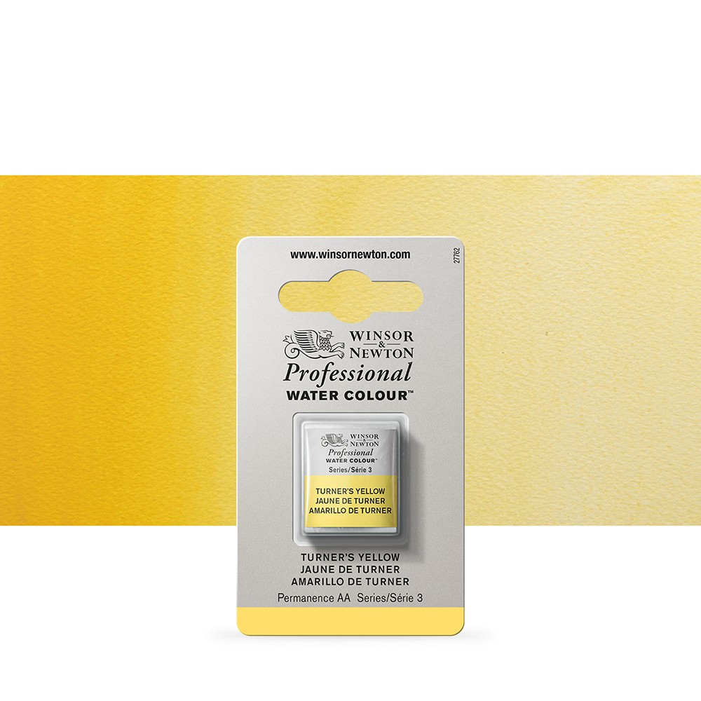 Winsor & Newton : Professional Watercolour Paint : Half Pan : Turners Yellow