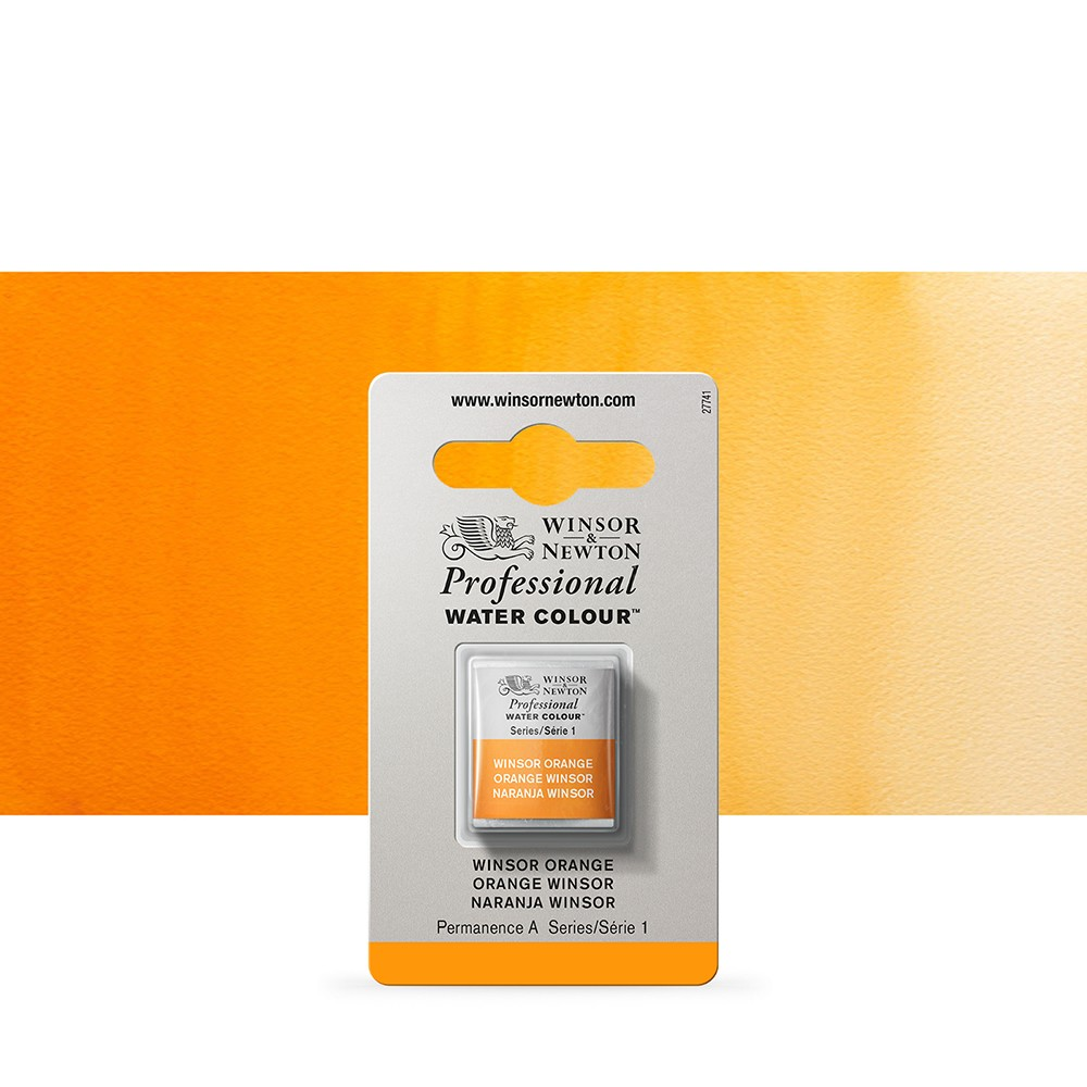 Winsor & Newton : Professional Watercolour : Half Pan : Winsor Orange