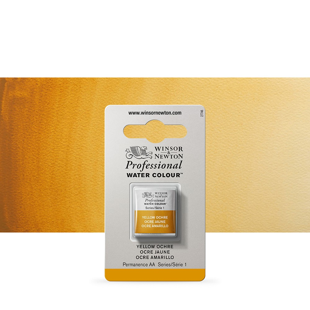 Winsor & Newton : Professional Watercolour Paint : Half Pan : Yellow Ochre