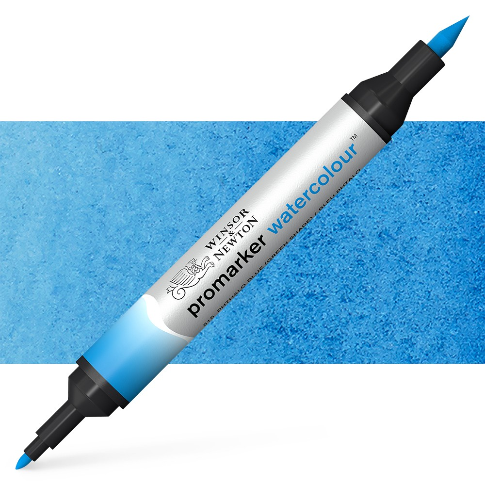 Winsor and Newton : Watercolour Marker : Phthalo Blue (GS)