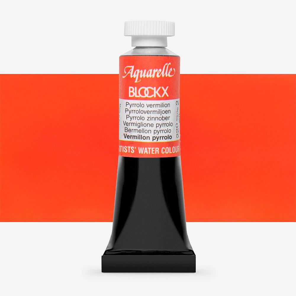 Blockx : Watercolour Paint : 15ml : Pyrrolo Vermilion