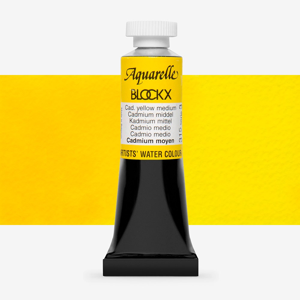 Blockx : Watercolour : 15ml : Cadmium Yellow Medium