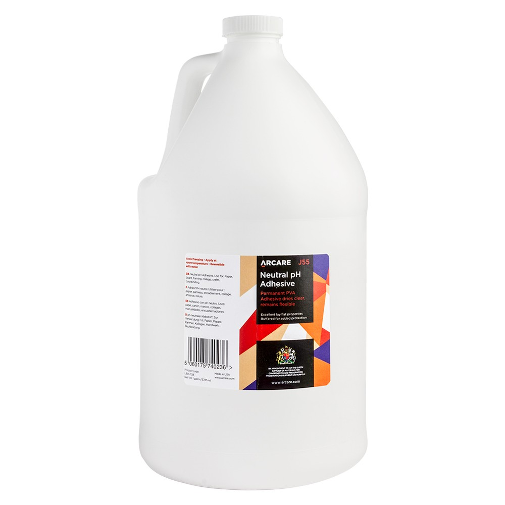 Lineco/Arcare : White Neutral Ph Pva Adhesive - 1 Gallon Jar (128Oz) : By Road Parcel Only