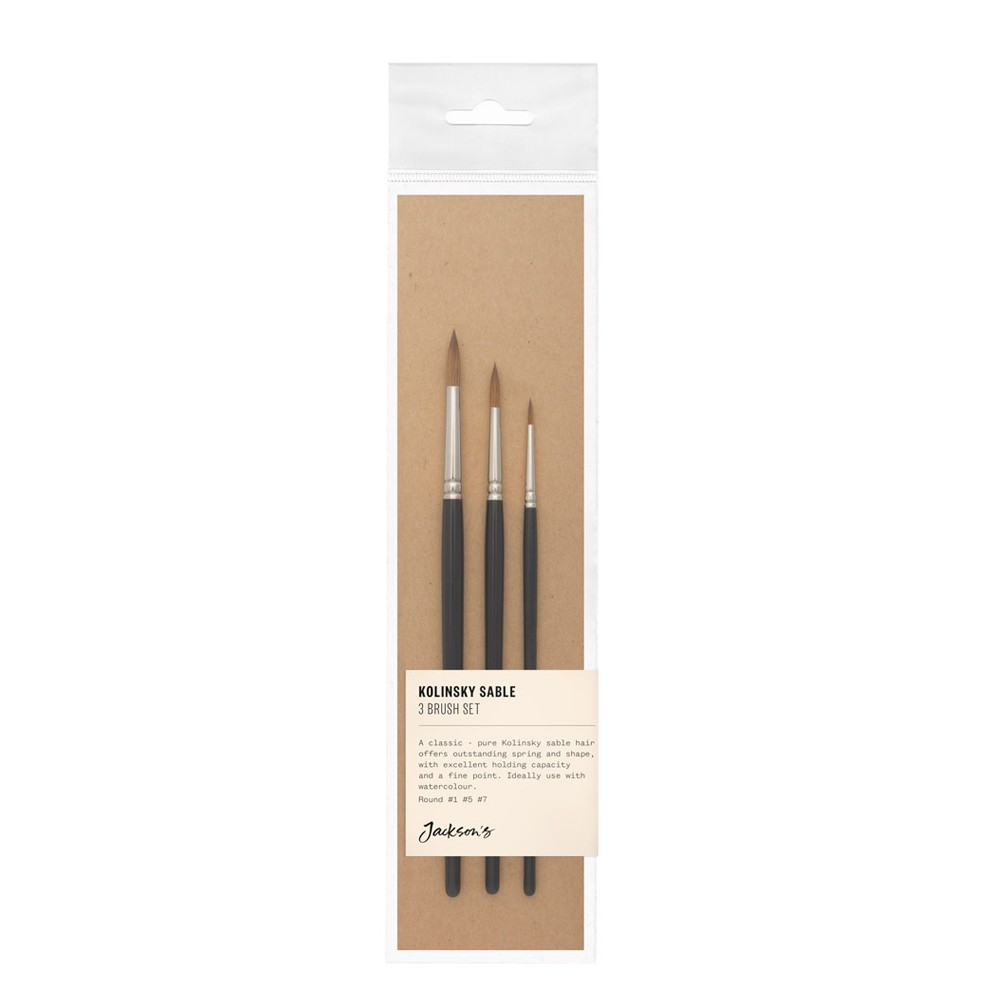 Jackson's : Kolinsky Sable Brush Set : Set of 3