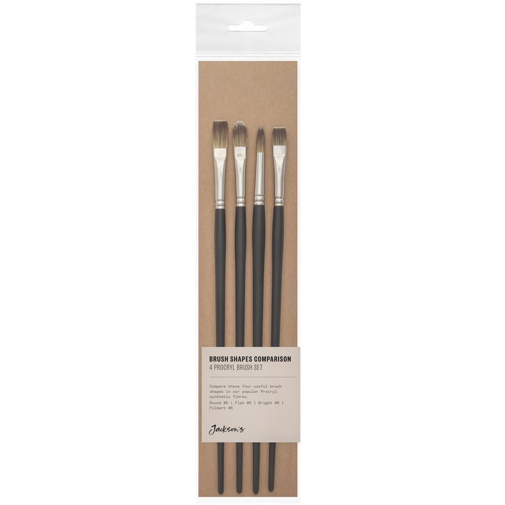 Jackson's : Oil & Acrylic Brush Shape Comparison Set : Set of 4 Procryl Brushes