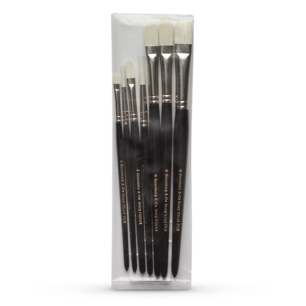 Rosemary Co Ivory Pochade Brush Set Of 7