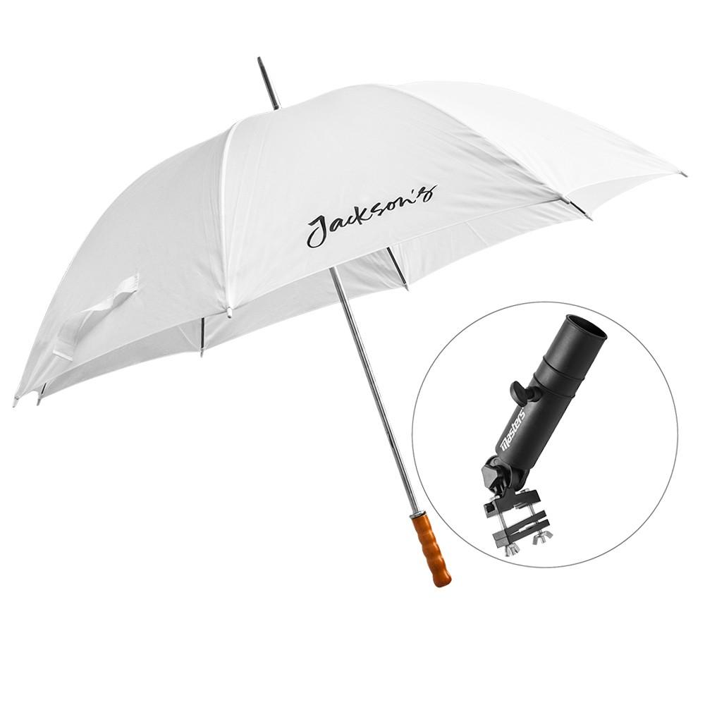 Jackson's : White Umbrella and Clamp