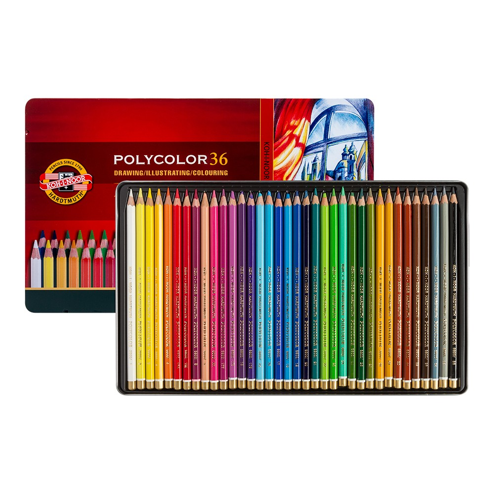 Koh-I-Noor : Polycolor : Artist Coloured Pencils 3825 : Set Of 36