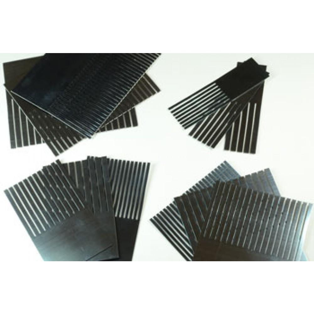 ASH : Set of 12 Steel Graining Combs : 1 2 3 4 in Fine Medium and Coarse