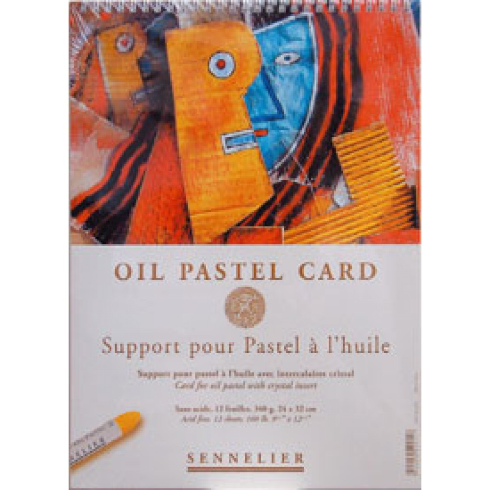 Sennelier : Oil Pastel Pad : Glassine Interleave : 340gsm : 12 Sheets : 30x40cm