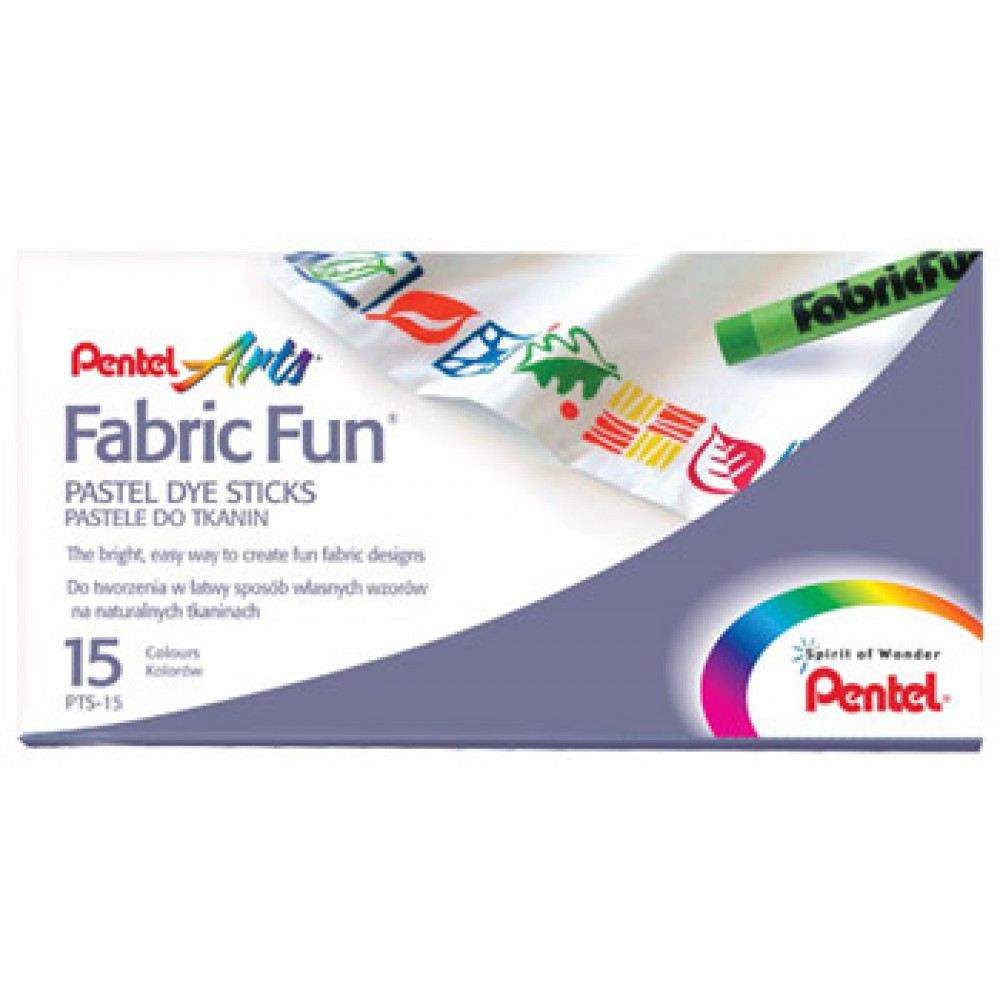 Pentel : Fabricfun Pastel Dye Sticks pack of 15