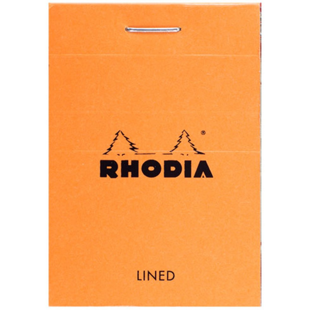Rhodia : Basics Lined Pad : Orange Cover : 80 Sheets : 52x75mm 5.2x7.5cm