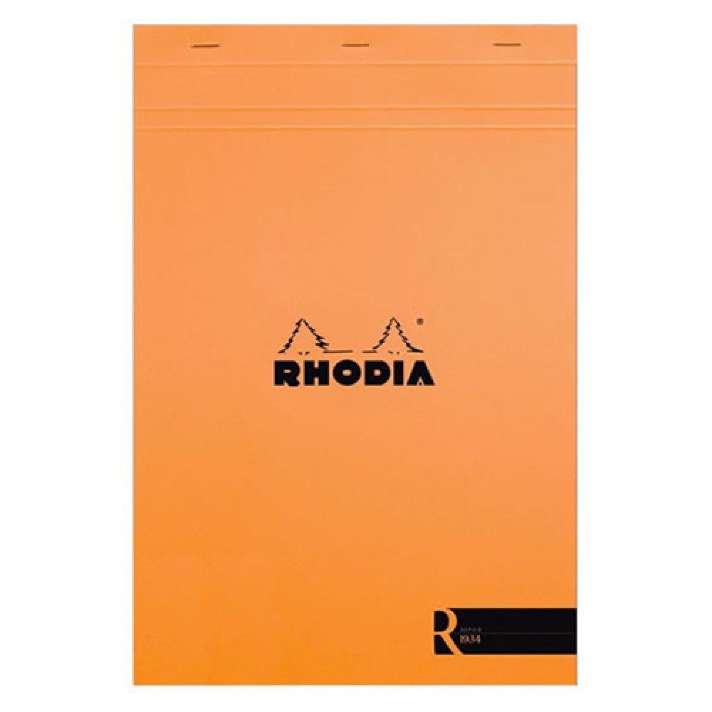 Rhodia : No.18 Le R Unlined Pad : Orange Cover : 70 Sheets : A4