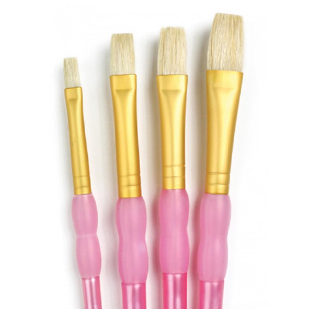 Royal Brush : 4Pc Bristle Hair Brush Set