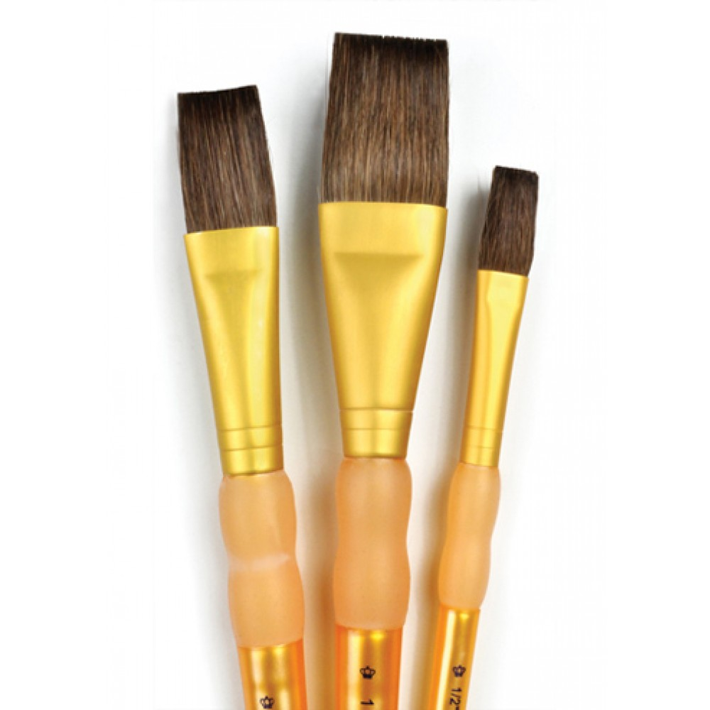 Royal Brush : 3Pc Camel Hair Flat Brush Set