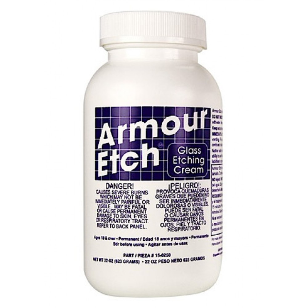 Armour Etch : Glass Etching Cream : 22 oz/623g (By Road Parcel Only)