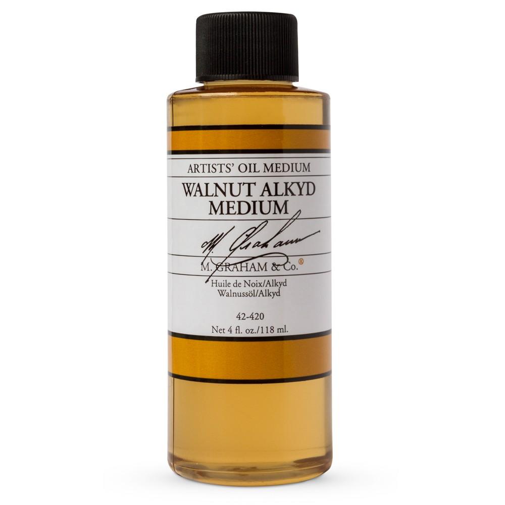 M. Graham : Artist's Oil Medium : 118ml : Walnut Alkyd Oil Medium