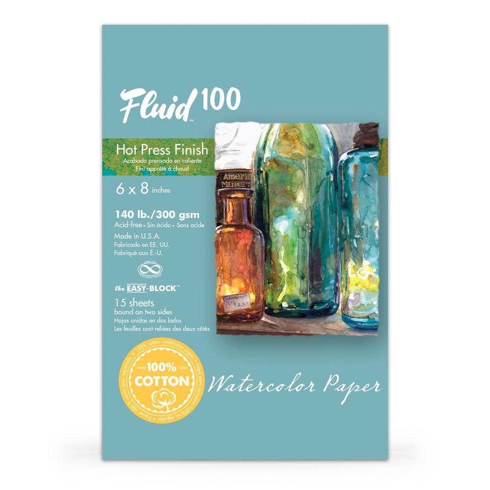 Global : Fluid 100 Easy Block : Watercolour Paper : 300gsm : 6x8in : Hot Pressed