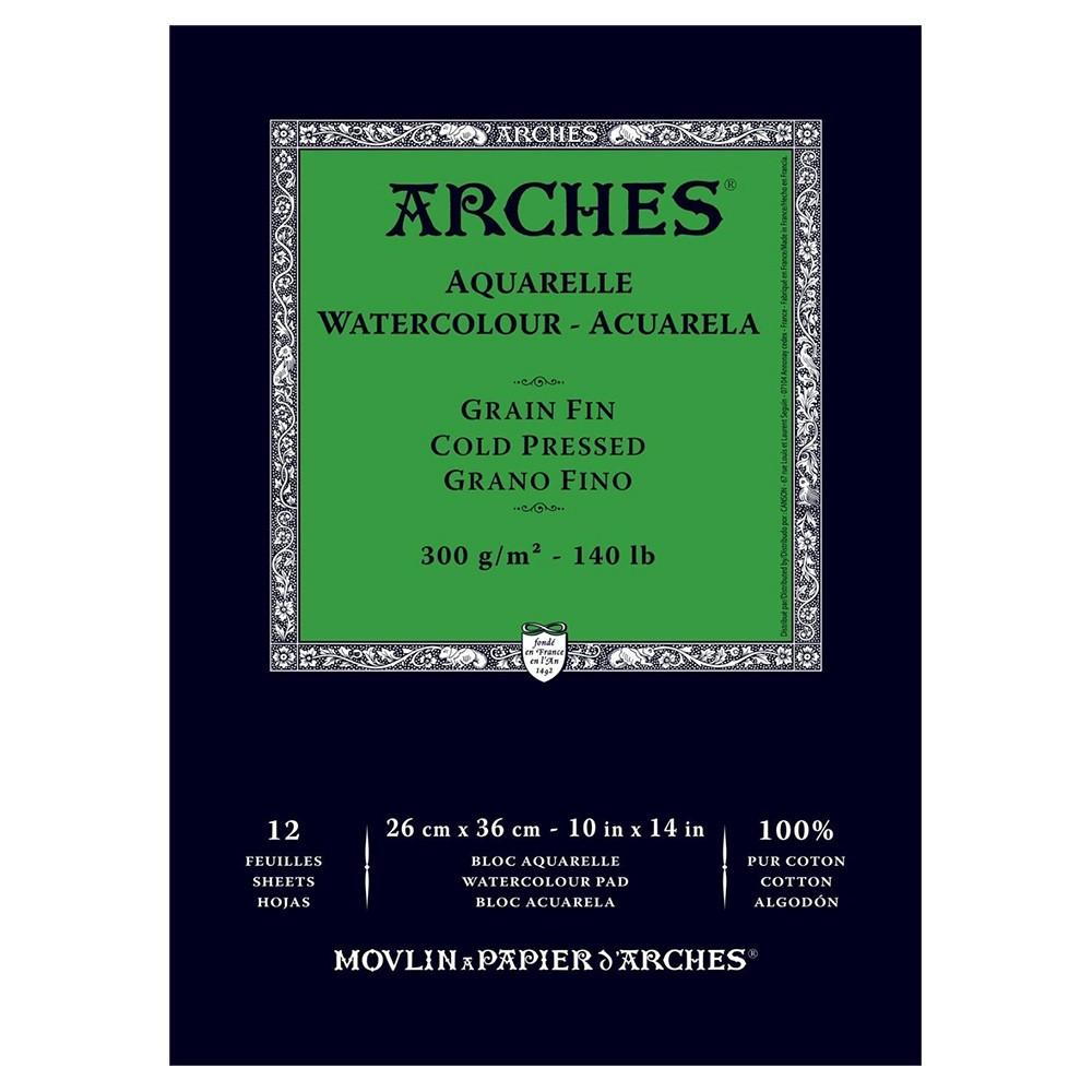 Arches : Aquarelle : Gummed Watercolour Pad : 26x36cm : 12 Sheets : Not