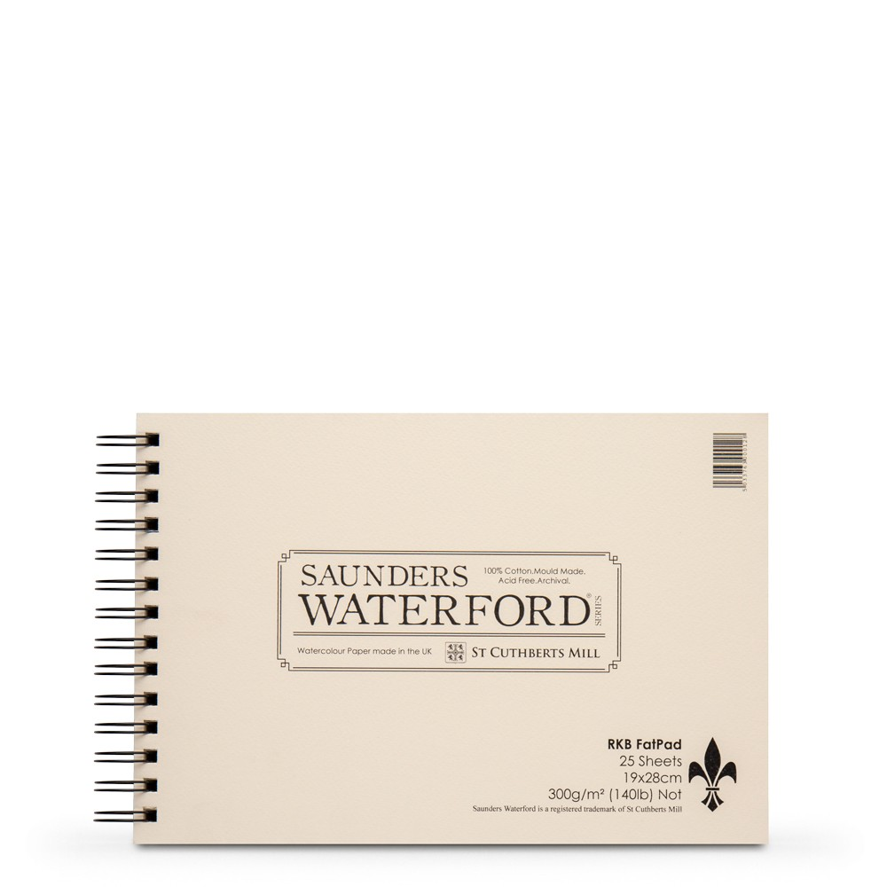 Saunders Waterford : 7.5x11in : Spiral Fat Pad : 25 Sheets : Not
