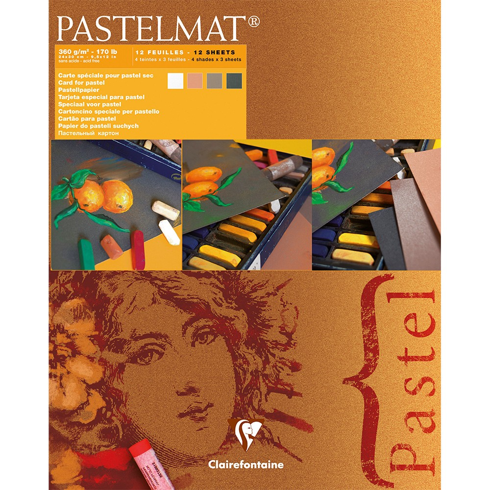 Claire Fontaine : Orange Label Pastelmat Pad 24x30cm : 12 Sheets 360gsm