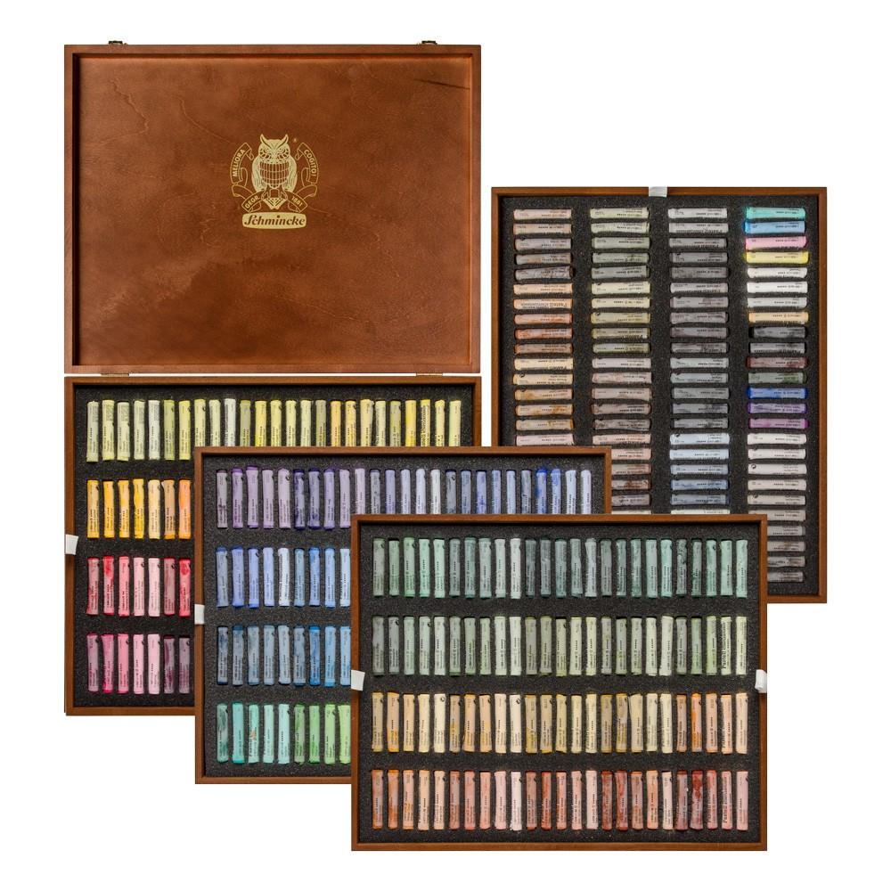 Schmincke : Soft Pastel : Wooden Presentation Case Set : 400 Sticks