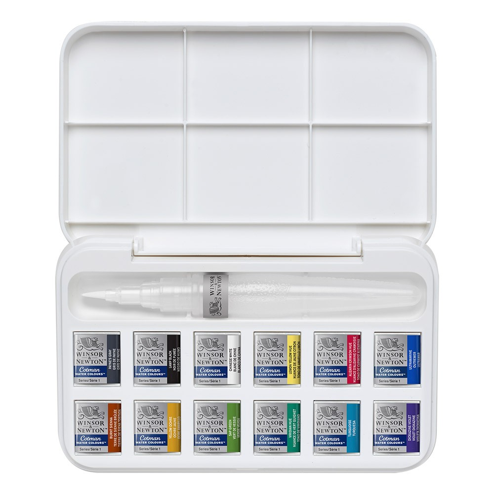 W&N : Cotman : Water Brush Pen and Watercolours Set