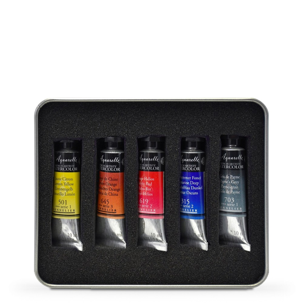 Sennelier : Watercolour : 10ml : Test Set of 5