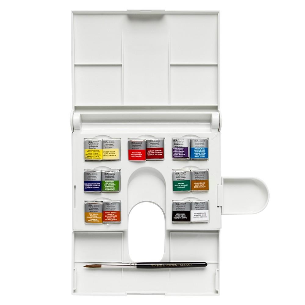Winsor & Newton : Professional Watercolour Paint : Compact : Set Of 14 Half Pans