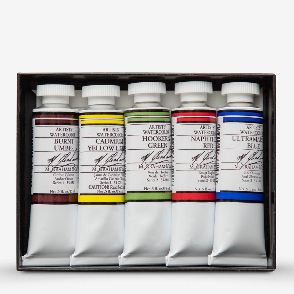 M  Graham : Artists' Watercolour Paint : 15ml : New England Set of 5