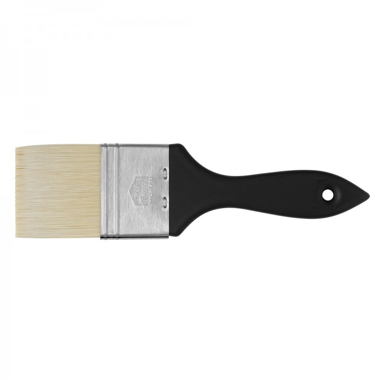 Handover : Thin Flat Brislon Brush. 50mm. Short Black Handle
